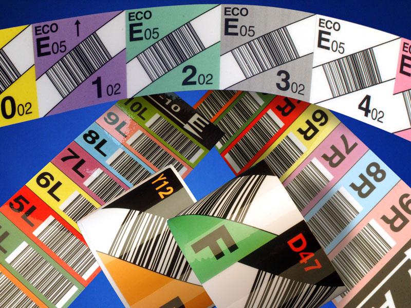 Barcodeetiketten zur Kennzeichnung von Lagerplätzen