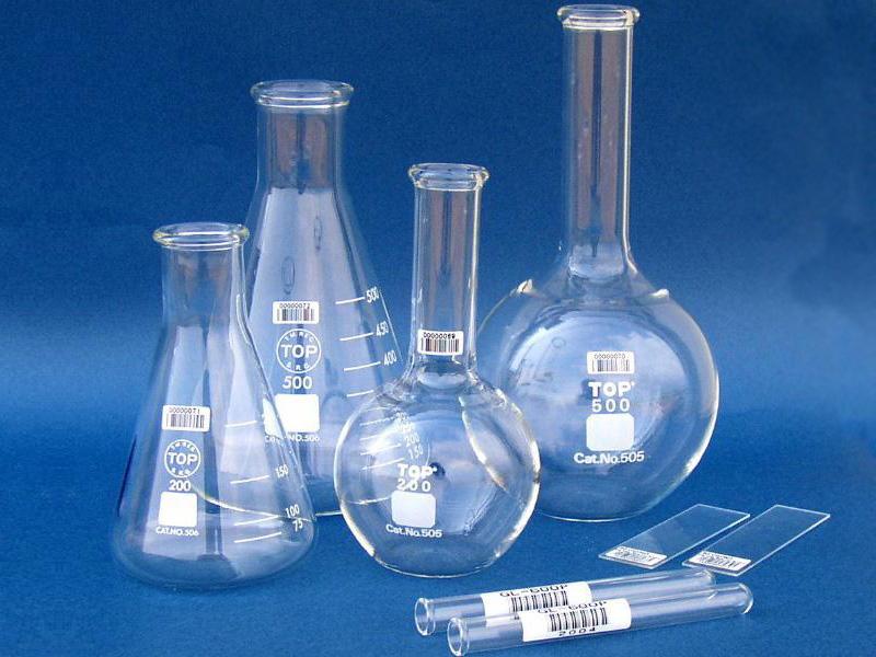 Barcodeetiketten auf Glas