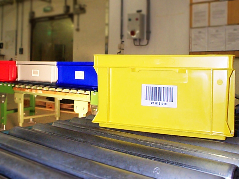 Barcodeetiketten für Normbehälter