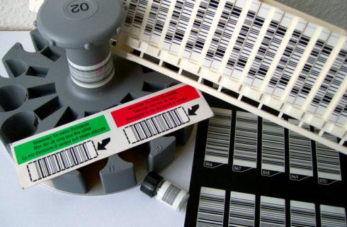 Barcodeetiketten für Analysen im Labor
