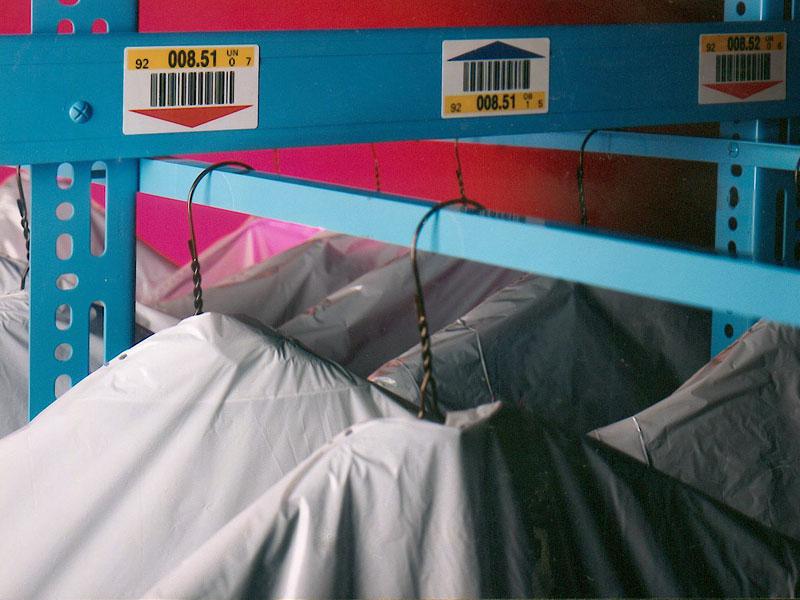 Regalkennzeichnung Textilindustrie